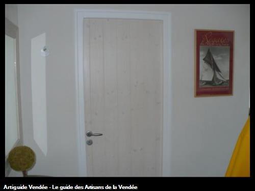 fabrication porte intérieure cérusé blanchi